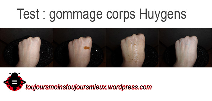 test gommage corps hygens