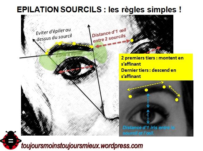 épilation sourcils, règles simples2