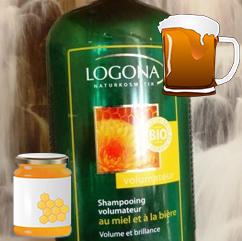 UNE shampoing bière logona