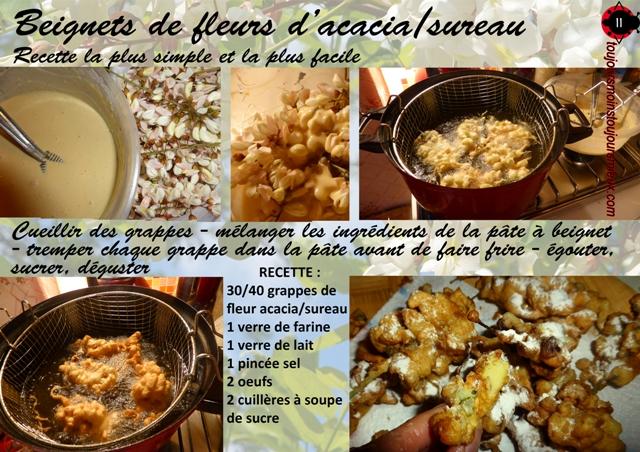 beignet acacia recette sureau