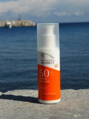 crème solaire bio Biarritz bio visage