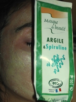 masque spiruline argile blanche ciel d'azur