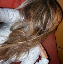 mèches rousses et blanche d'après coiffeur
