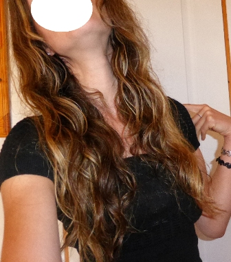 cheveux après méthode du bol et huile+ aloe