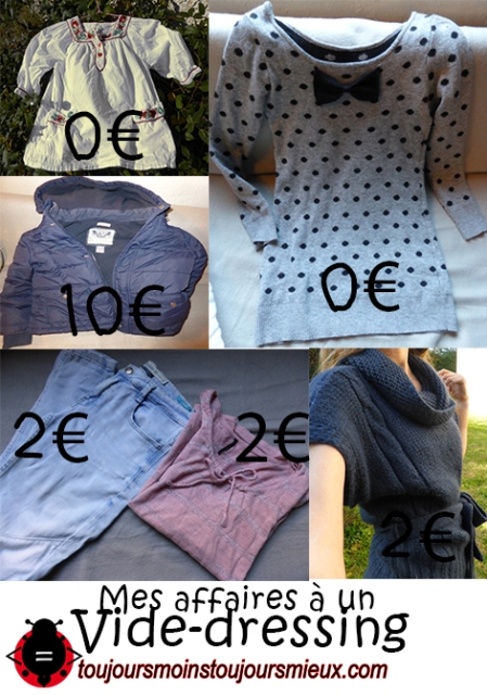 Mes affaires en vide dressing 2017