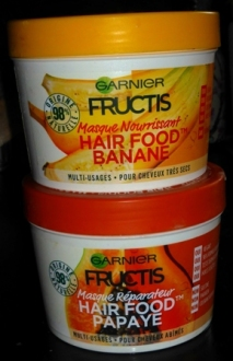 hair food Garnier fructis masque cheveux banane papaye