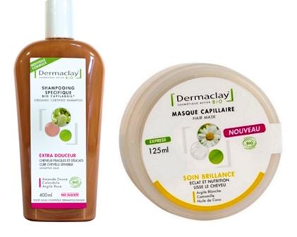 UNE-shamp et masque dermaclay