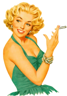 pin up cigarette