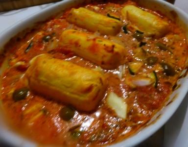 quenelles aux légumes plat complet