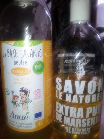 base lavante Anae et Savon le naturel suermarché comparaison