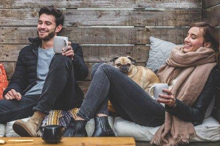 UNE-couple chien